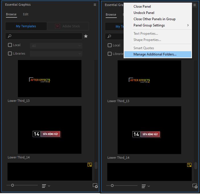 Cài đặt file morgt và sử dụng Essential Graphics trong Premiere Pro như thế nào? 23
